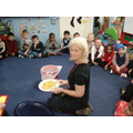 Tasting food in Reception
