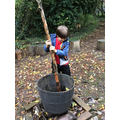 Outdoor Learning in our Forest School Area