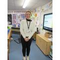 Miss Ward dressed as Mrs Marr
