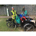 Danni, Education Officer (Air Quality) Leicester CC & her friend Clean Air Clive