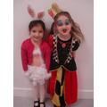 The White Rabbit and the Queen of Hearts