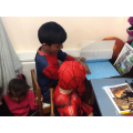 Big Spiderman reading to Little Spiderman