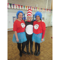 The Cat in the Hat and Thing 1 and 2