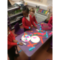 Making friendship bracelets in Reception