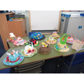 Some of the Easter Bonnet entries in year 5!