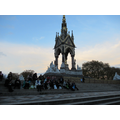 A picnic tea on the steps by the Albert Memorial