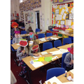 Making masks for Red nose day