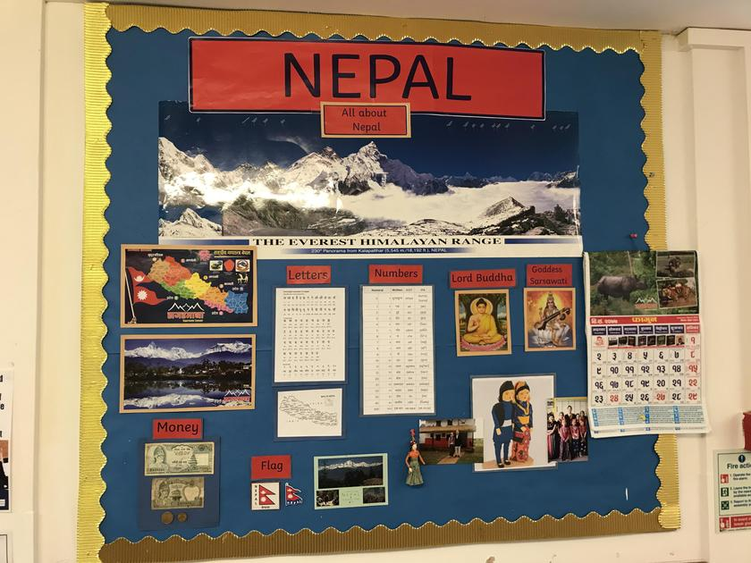 Our display up in school