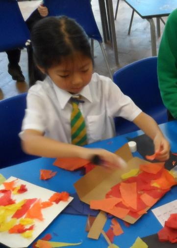 Topic art work- collages of the Fire of London.