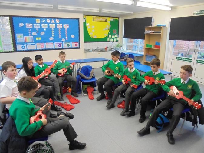 Learning to play the ukulele!