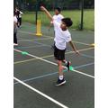 Year 3 Cricket bowler