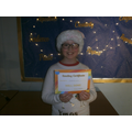 Isabelle, 3rd place accelerated reader