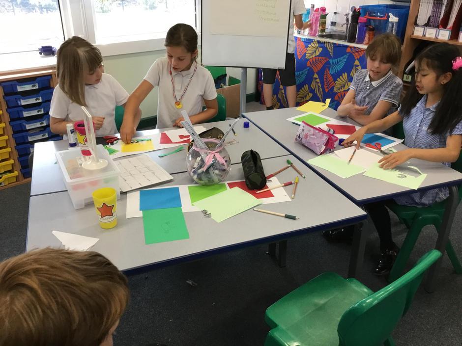 Working together to create wonderful art.