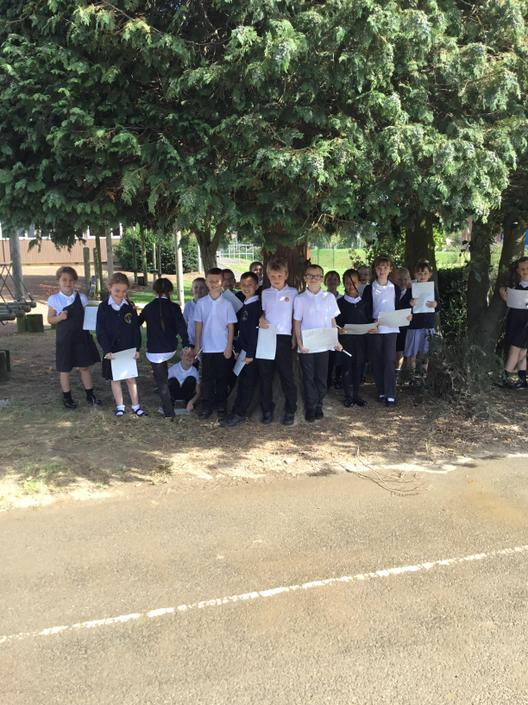 Exploring our school grounds.