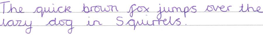 Handwriting example JOINED
