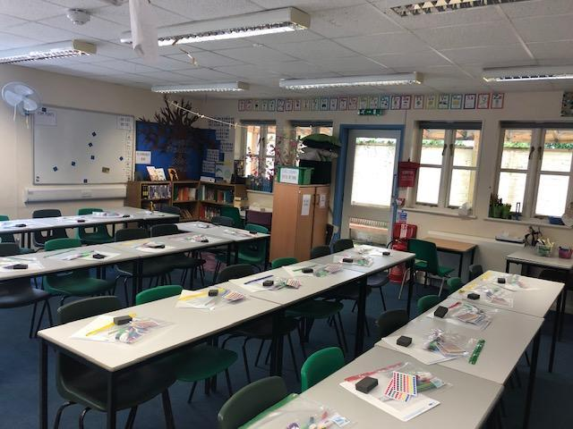 Our classroom layout is a little different this term.