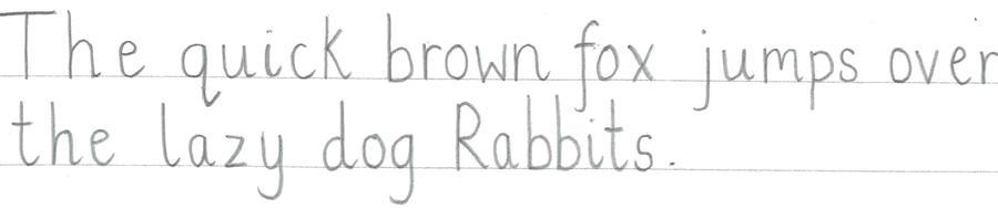 Handwriting example PRINT