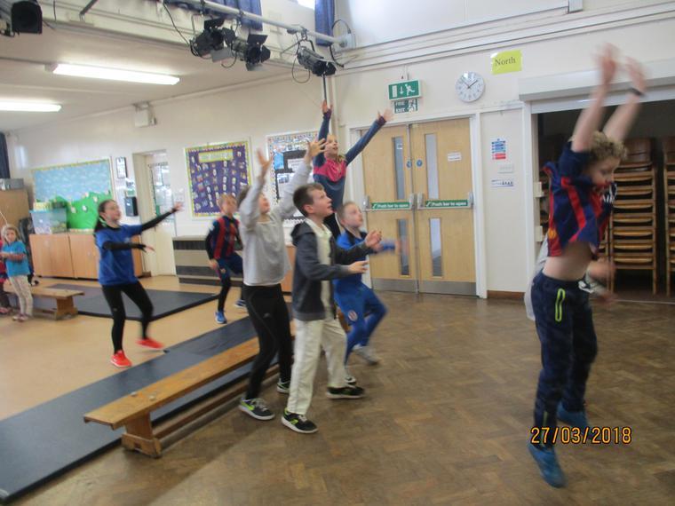 We practised blocking throws and balance!