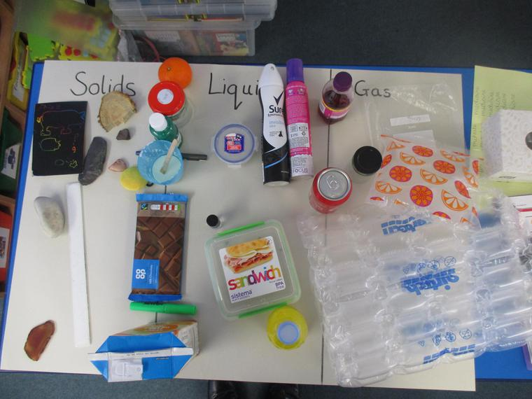 Sorting solids, liquids and gases
