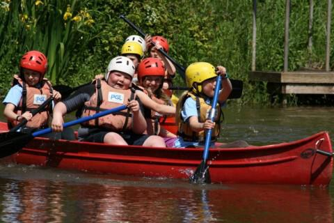 Canoeing was mildly drier than Raft Building,