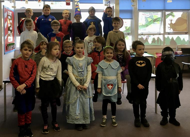 Beech Class full of Characters