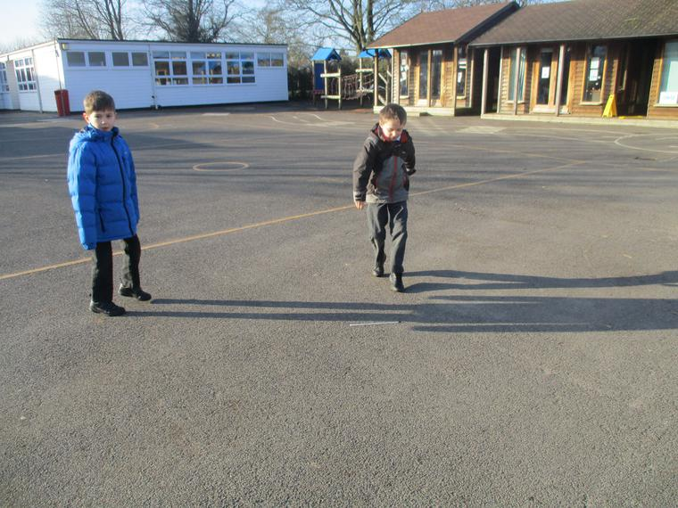 Measuring the temperature on the playground