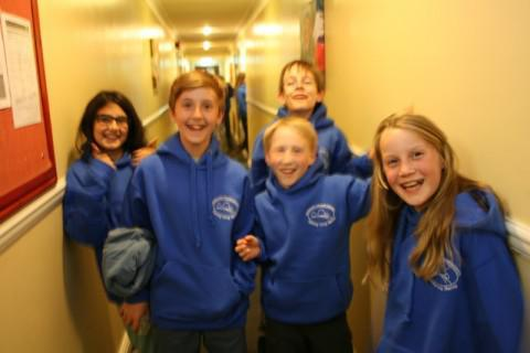 We loved getting our hoodies!