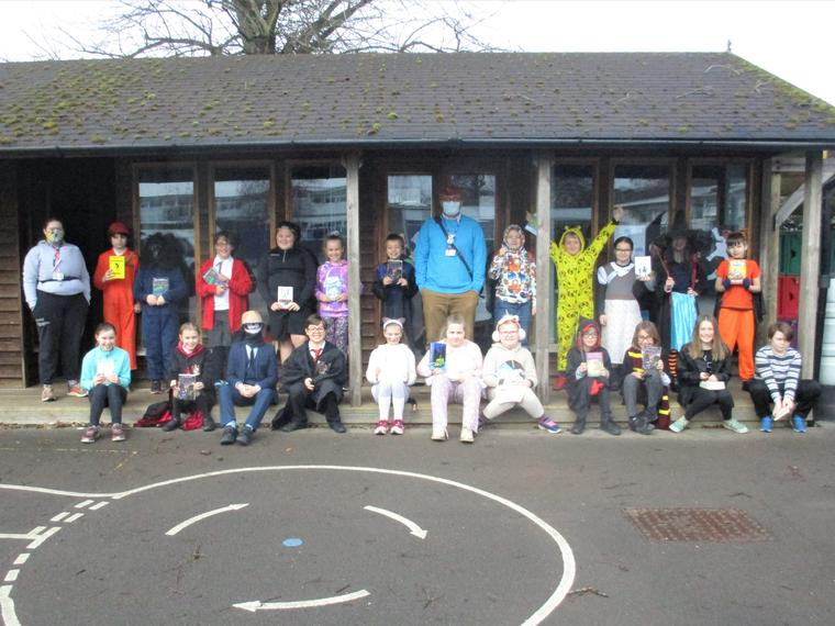 Maple Class in their costumes