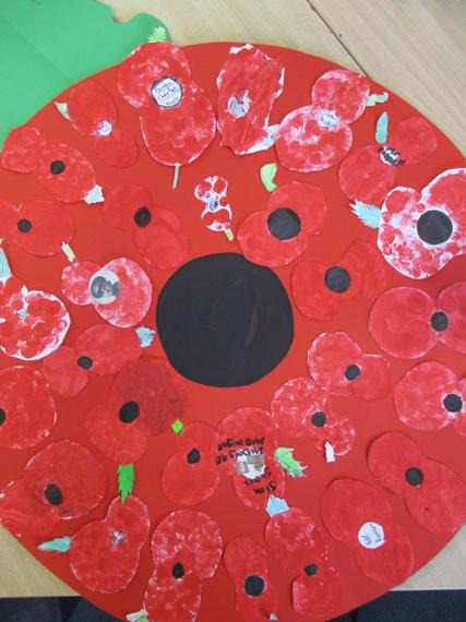 Our Poppy Creations to lay at the memorial