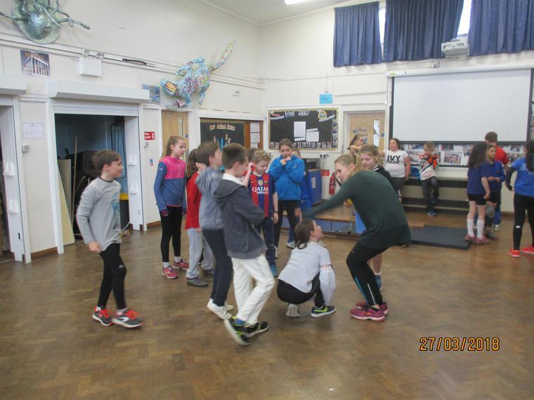 We practised team work.