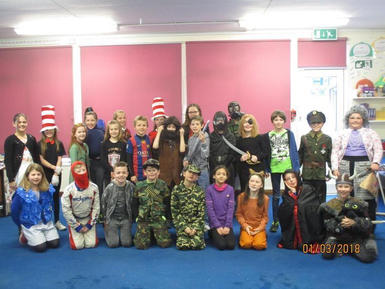 Maple Class in their costumes.