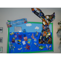 Our plastic display - we all helped