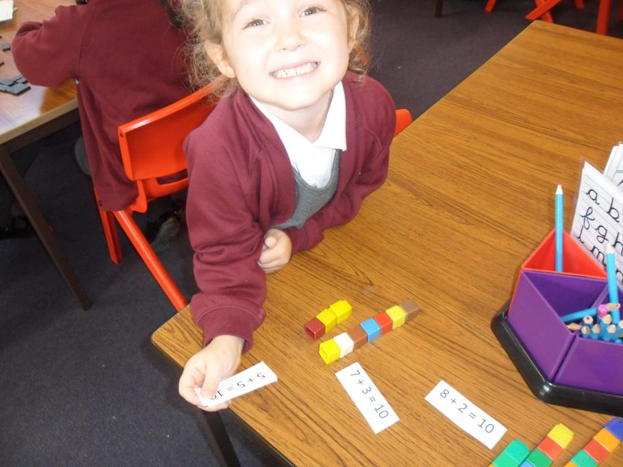 I am learning number bonds quickly!