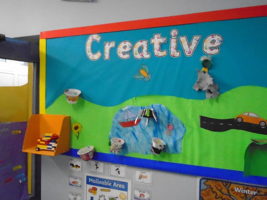 Creative station - child initiated work