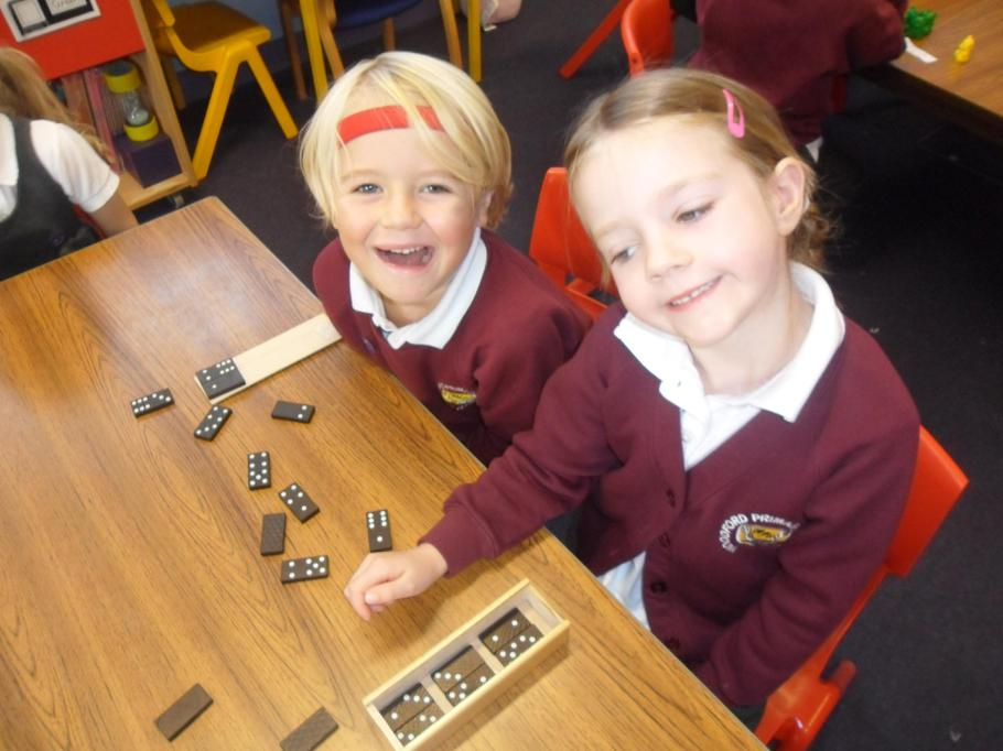 Investigating two dominoes that add to 10