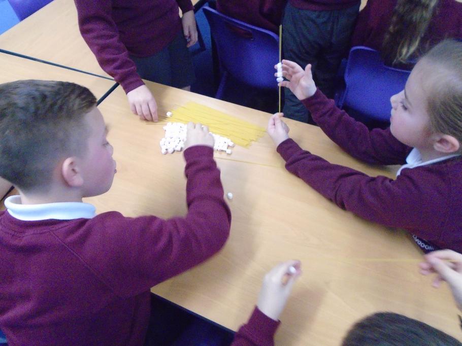 Can we make a bridge using spaghetti & marshmallow