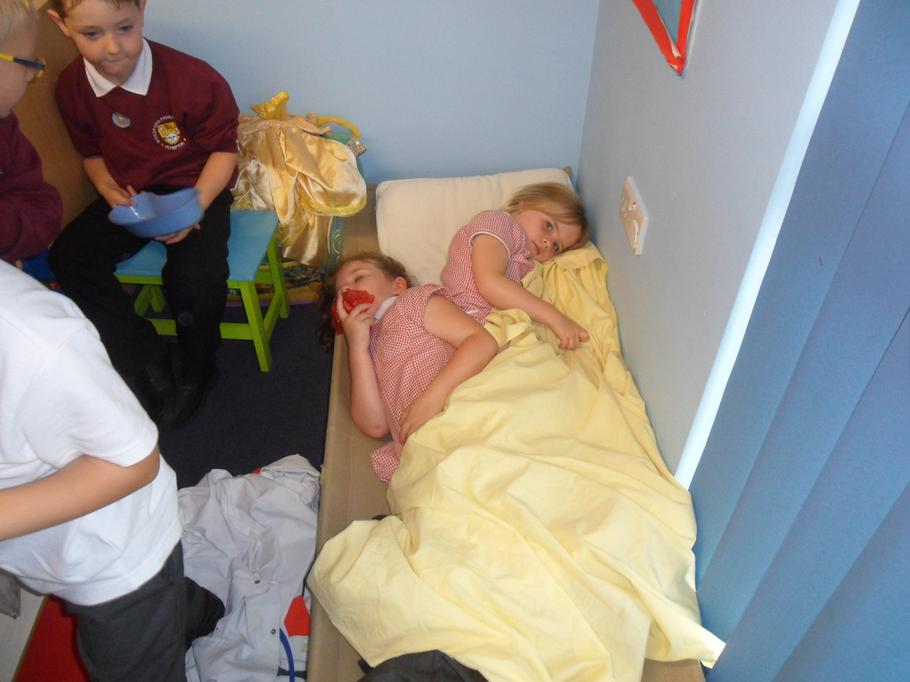 Patients in our hospital role-play area.