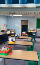 The classroom door