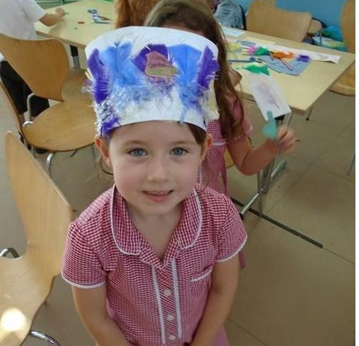 We made habitat headbands & sketched sea creatures