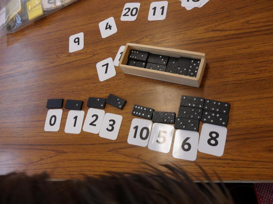 Subitising with different dominoes