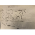 Freddy's water cycle drawing