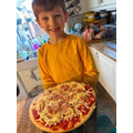 Pizza masterclass with Jackson!