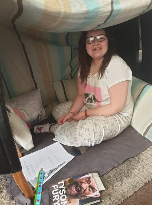 Still doing her homework-well done Teegan