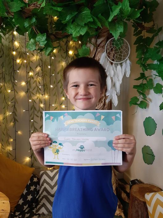 Well done Euan! Great happy breathing this week.