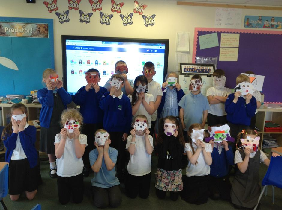 We created animal masks to launch our new project.
