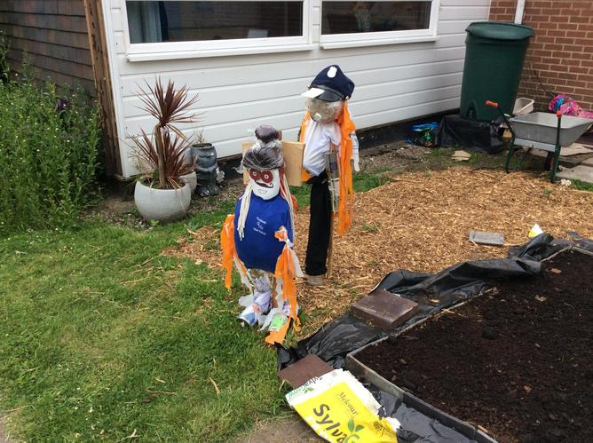 Year Two's Scarecrows