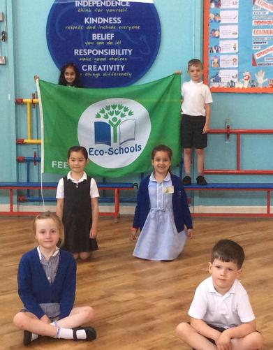Eco Bees with our Eco School Green Flag Award