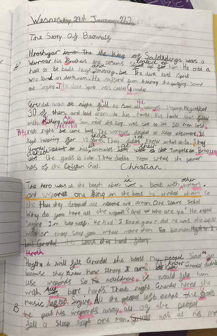 Using editing flaps Year Four
