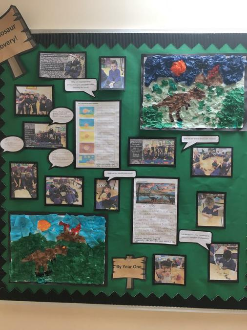 Dinosaurs Year One - Writing and Artwork