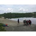 Team work - moving the canoes to Lake Bala